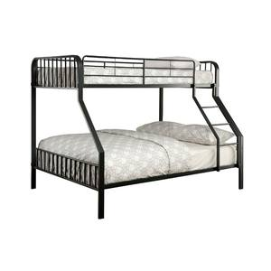 M/étal simple superpos/é cadre de lit 2 enfants jumeaux,Black
