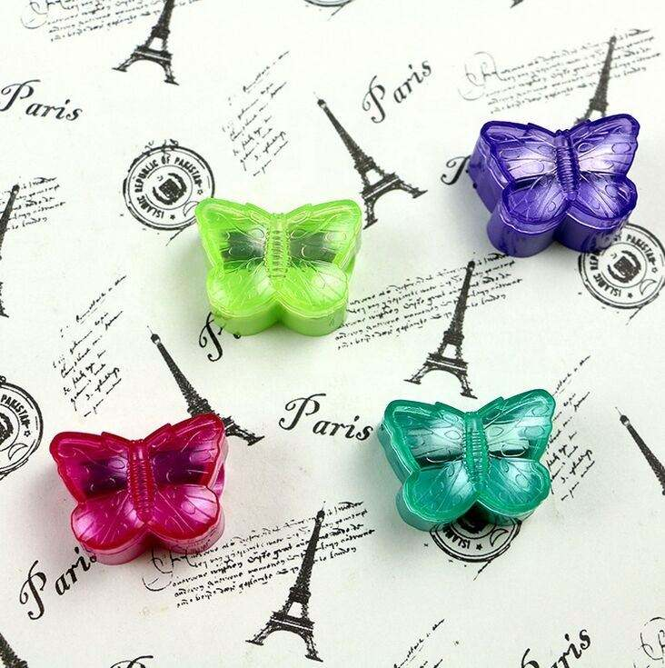 Lovely Small Dairy Butterfly Shape Single Hole Mini Pencil Sharpeners