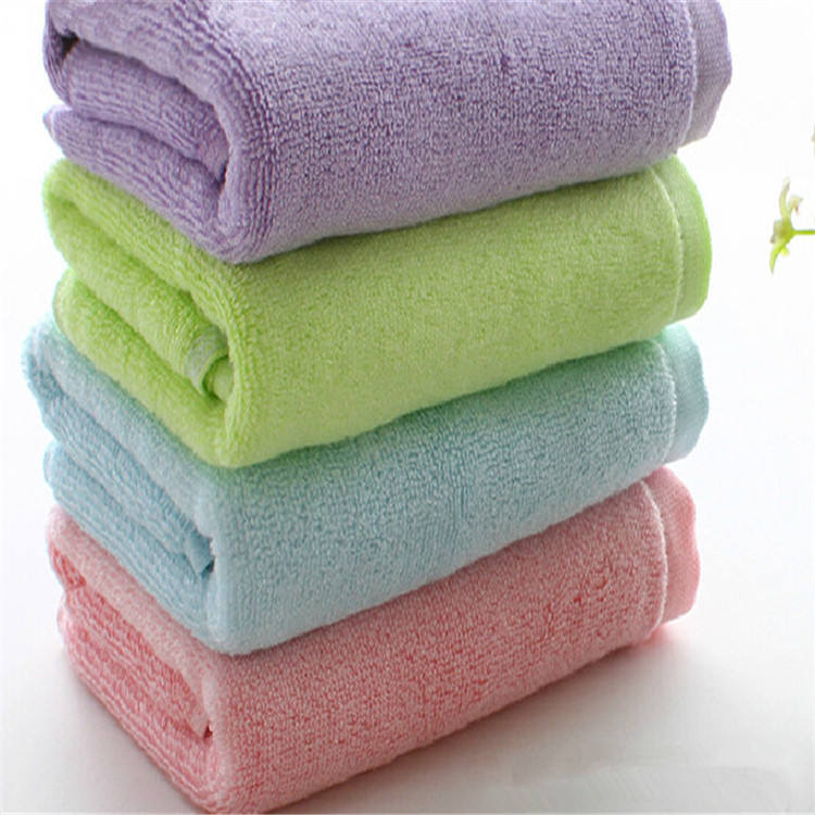 Wholesale Solid Color New Born Baby Towel/custom Printed Plain Cotton Towel
