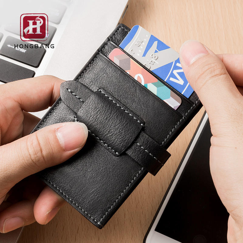 Credit card wallet RFID front pocket wallet for men