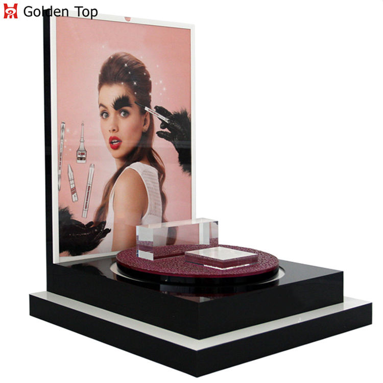 custom acrylic cosmetic display counter top for makeup organizer