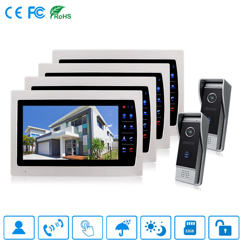 Bcomtech High End 10 Inch Wired Villa Video Door Phone System
