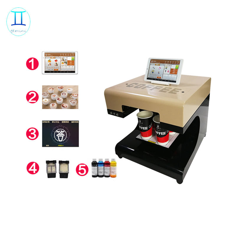 Safe Edible Ink Foam Milked Coffee Printer, Cappuccino Latte Art Printing Machine for sale