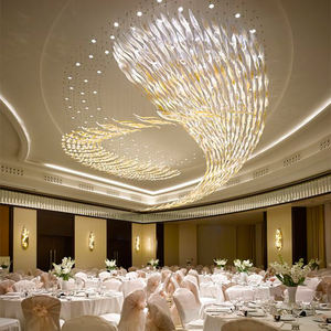 Restaurant Lustre Glass Chandelier Custom Pendant Lighting fixture for Hotel Lobby Foyer Decoration