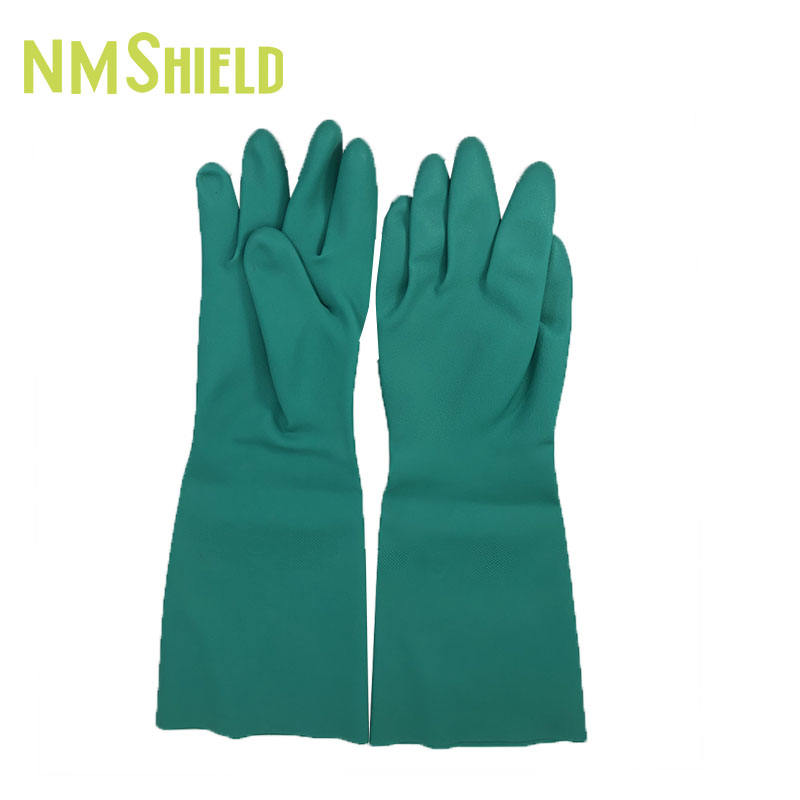 NMSHIELD hand disinfection Industrial use nitrile coated non sterile powdered nitrile gloves