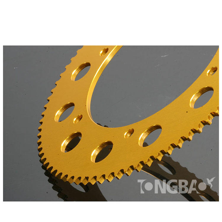 Super September Sprocket GOLD-LINE 219, 66 teeth, aluminium,gold anodized for go kart