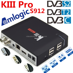 Amlogic S912 64 bit Octa core ARM-A53 CPU tot 2 GHz Android Hybrid DVB T2 + S2 combo