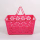 H107 Small colorful promotional Chinese traditional perforated plastic baskets with handles
