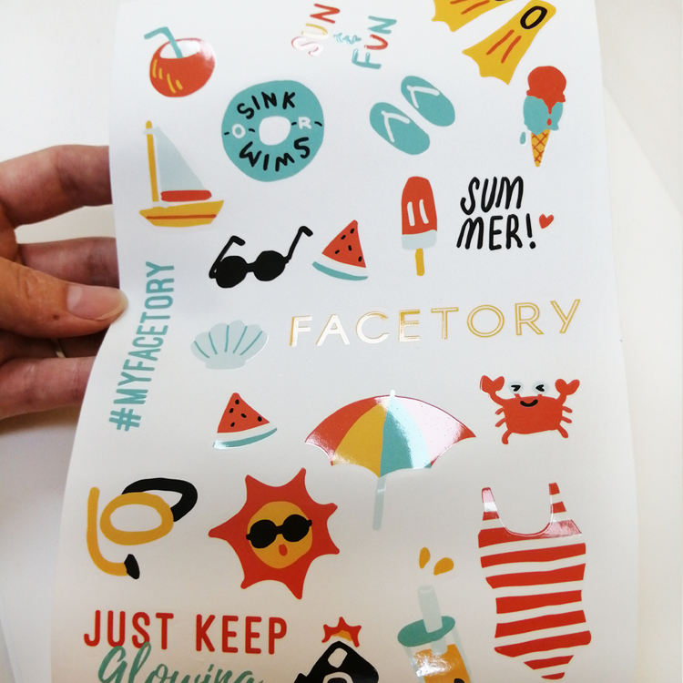Printing Die Cut Funny Logo Custom Labels Sheet UV A4 Sticker Paper