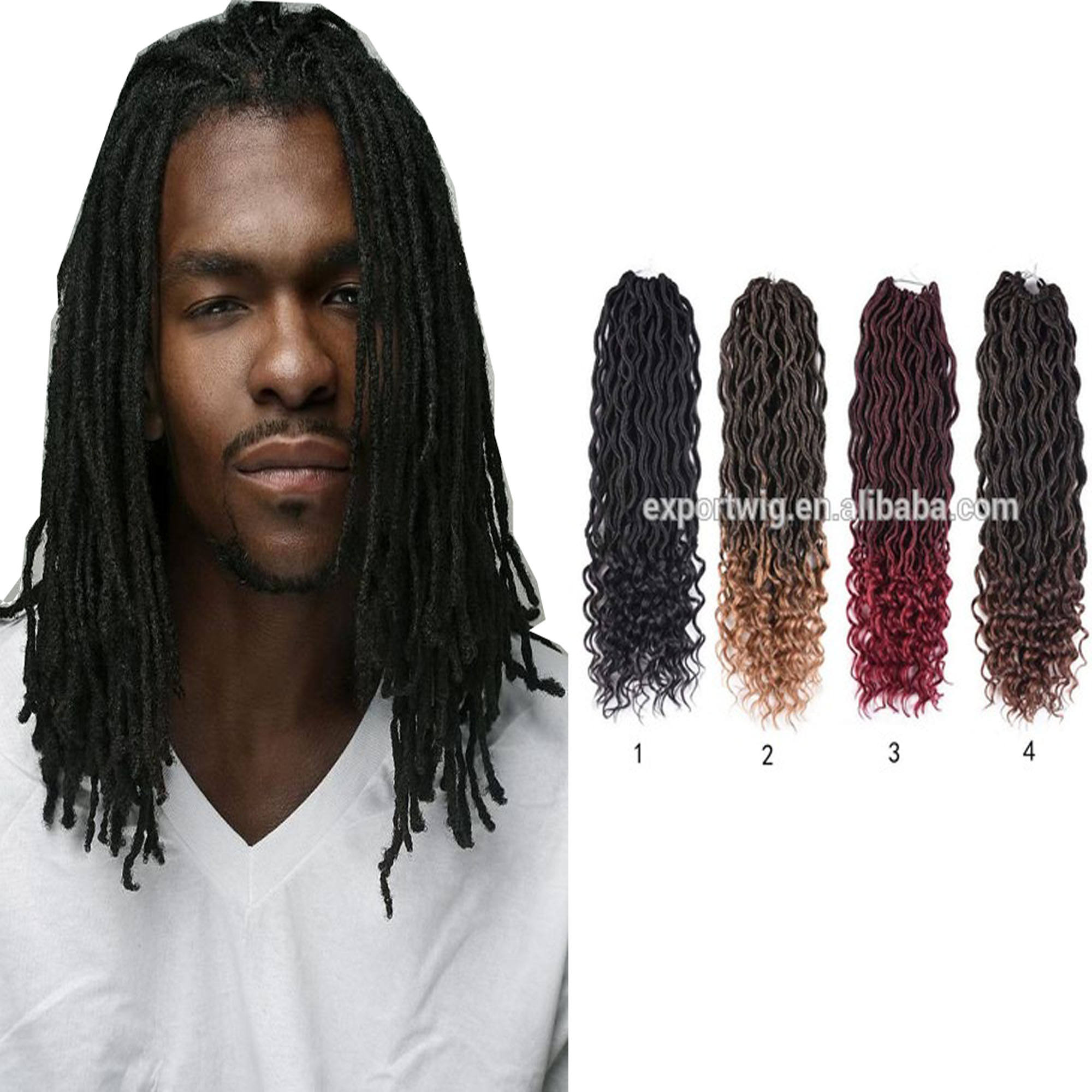 Wholesale Types Of Synthetic Extension Kinky Braiding Locs Crochet Hair Piece Weave Dread Lock Bulk Dropshipping crochet locs