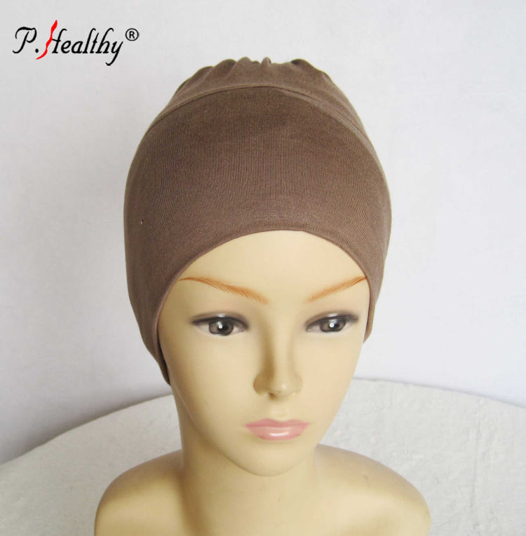 P-Healthy Newest design wholesale price collection plain comfortable omani Jersey hijab cap