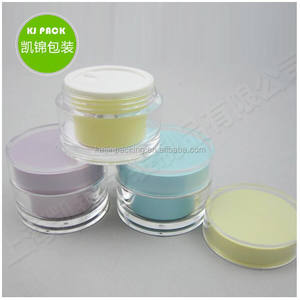 clear plastic cosmetic acrylic cream jar 15g 30g 50g