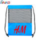 100% Polyester Fabric Net Mesh Drawstring Net Bag For Promotion/Gym Clothing Bag