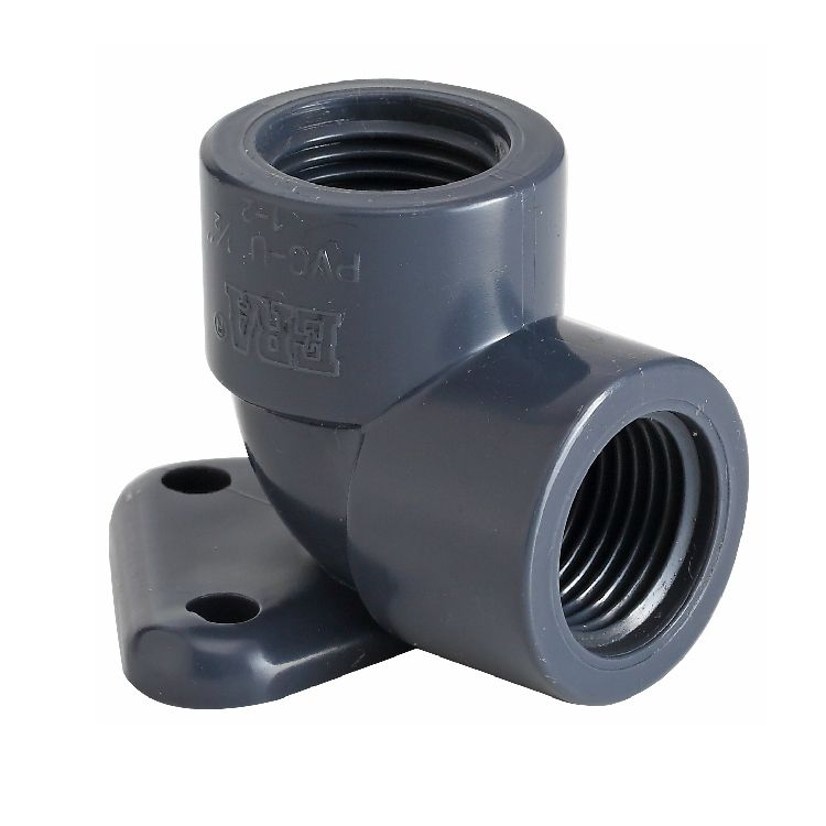 ERA BSPT PN10 PVC THREAD FITTINGS FEMALE THREAD ELBOW WITH EAR