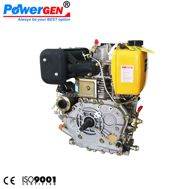 מוכר עליון!!! Powergen 10HP 186F מנוע דיזל צילינדר יחיד 4 פעימות אנכי