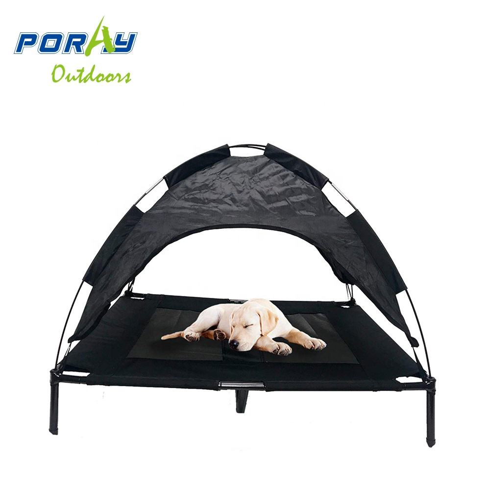 Small Size Raised Mesh Cot Cooling Elevated Dog Bed Removable Canopy Tent Travel Bag