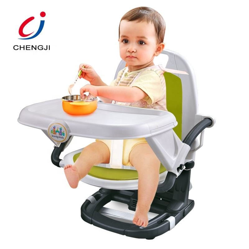Plastic toddler portable dining eating feeding baby high chair