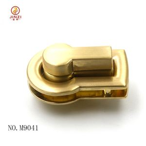 new style custom metal turn lock for brand bags