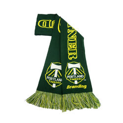 Wholesale Custom Sport Team Football  fan Scarf custom socce