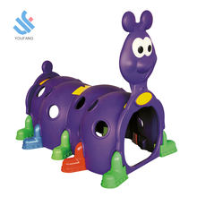 YF-06002 factory new high quality kids plastic playhouse play tunnel plastic colorful multifunctional caterpillar tunnel toy