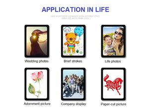 China Supplier Acrylic Magnetic Photo Frame Refrigerator Magnet