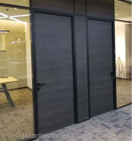 Contemporary wooden office entry door