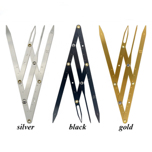 Private Label Stainless Steel Eyebrow Ruler Microblading Stencils Permanent Tatoo Calipers Golden Ratio Divider OEM Your Logo
