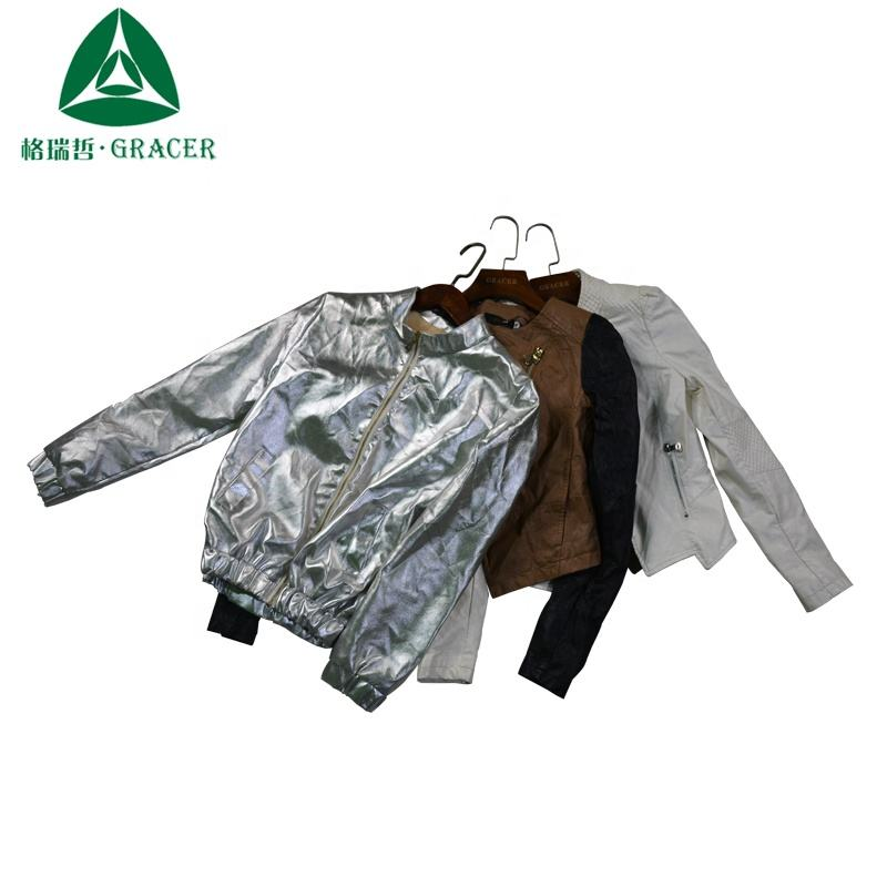 overruns branded clothing high quality used clothing leather jackets