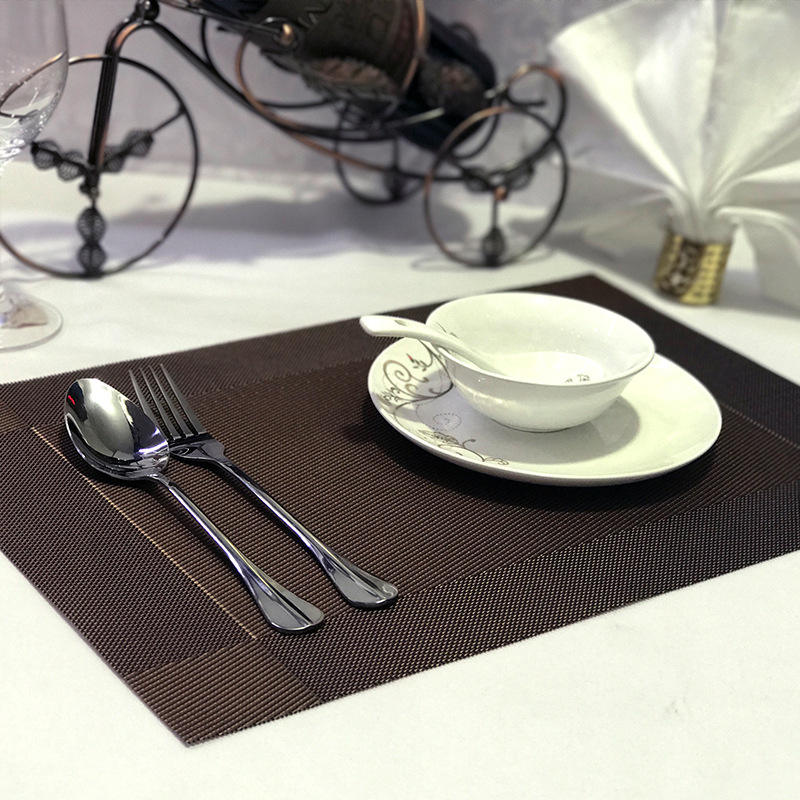 Restaurant hotel Waterproof Square shape tablemat pvc placemat
