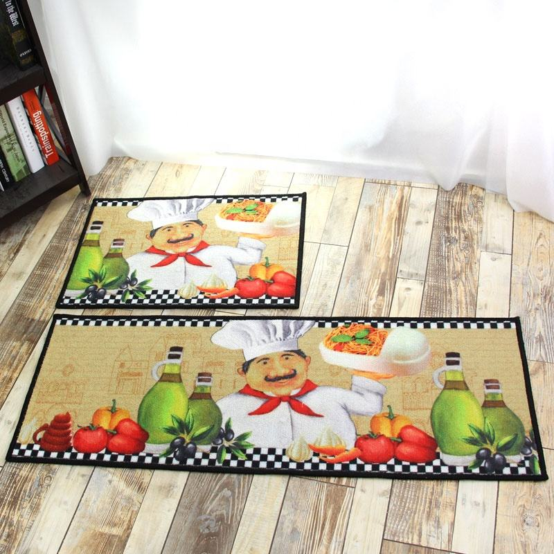 Door Mat Machine washable Non Slip Kitchen/Bathroom Floor Rug 40X60cm Black