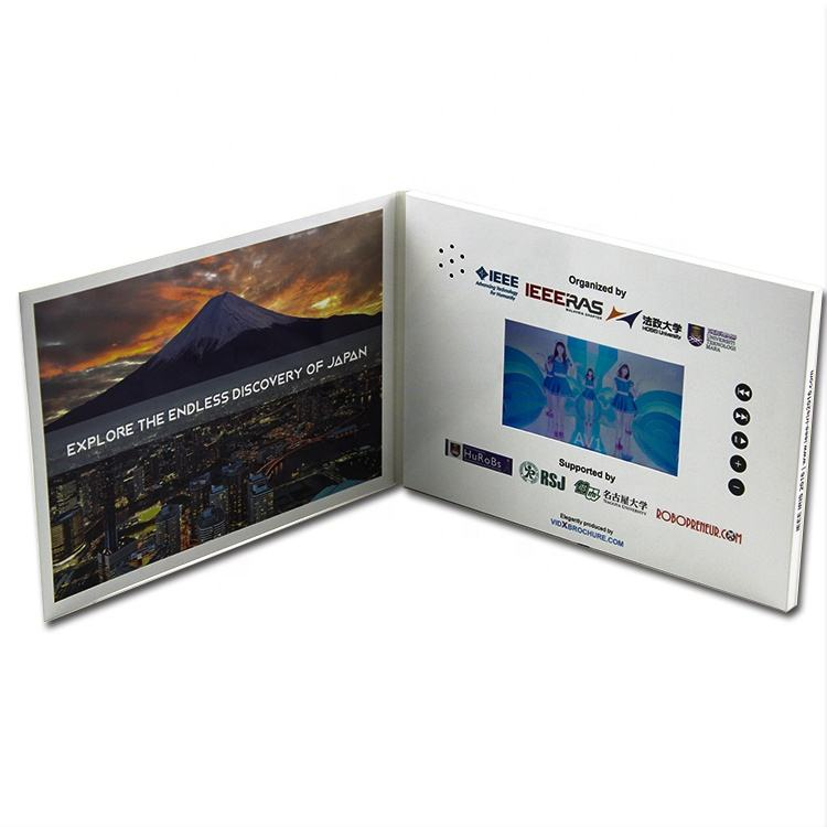 Book cover IPS HD video card wedding invitation card