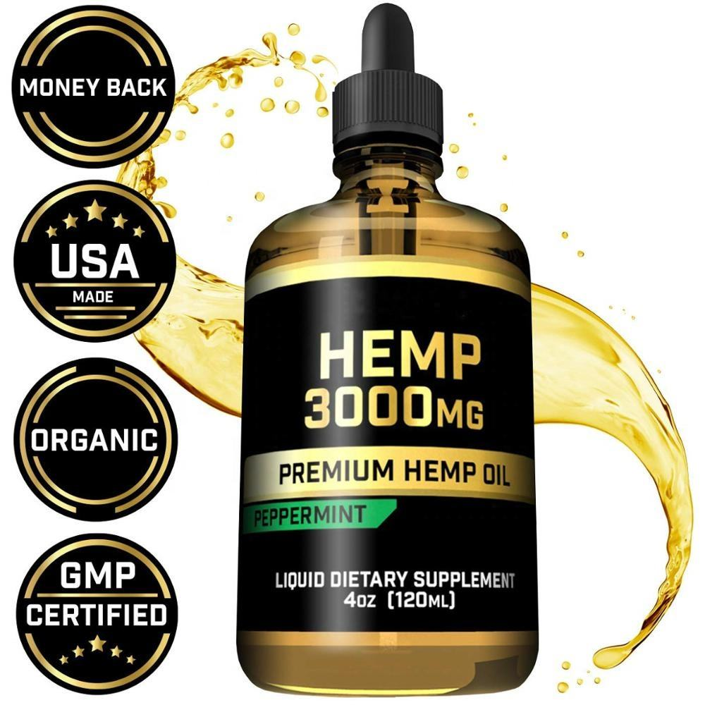 Hemp oil relieves pain and anxiety, natural full spectrum hemp seed extract