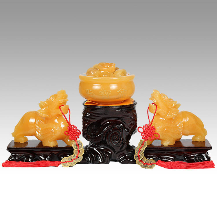 Fortune the decoration of wealth,fengshui gift, FENG SHUI gift yellow jade