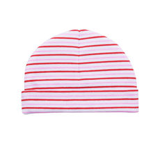 Smile Bear Wholesale 28g 100%Cotton Printing Striped Pattern Cotton Baby Hat For Newborn Wear