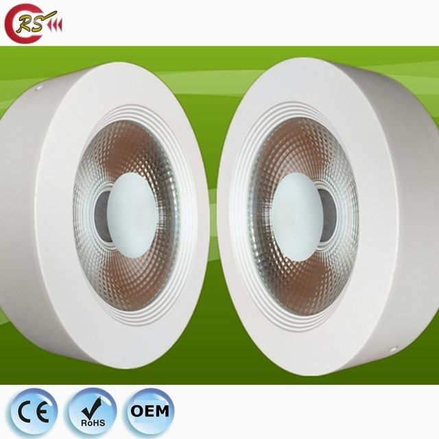 fire rated led light down light dimmable 15w 30w 40w flat COB surface mounted LED downlight spotlight