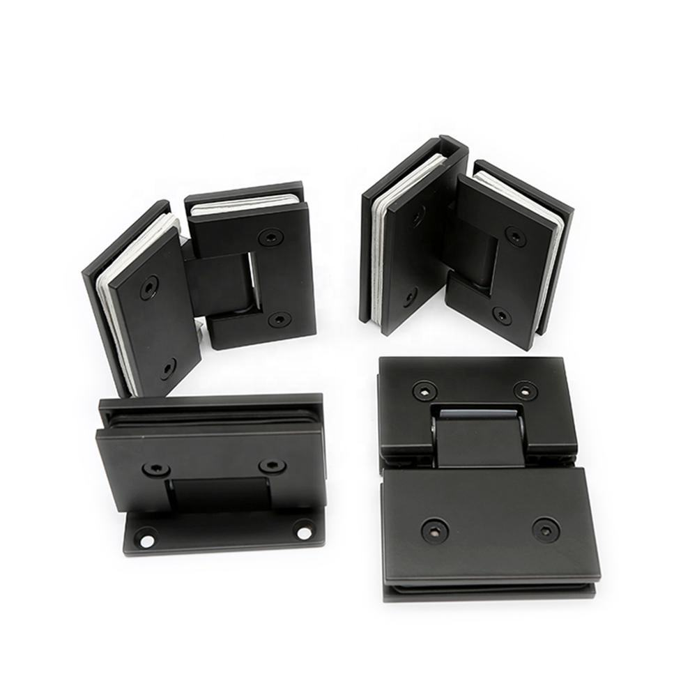 Wholesale Matt Black Glass to Wall 90 Degree Brass Shower Door Hinge