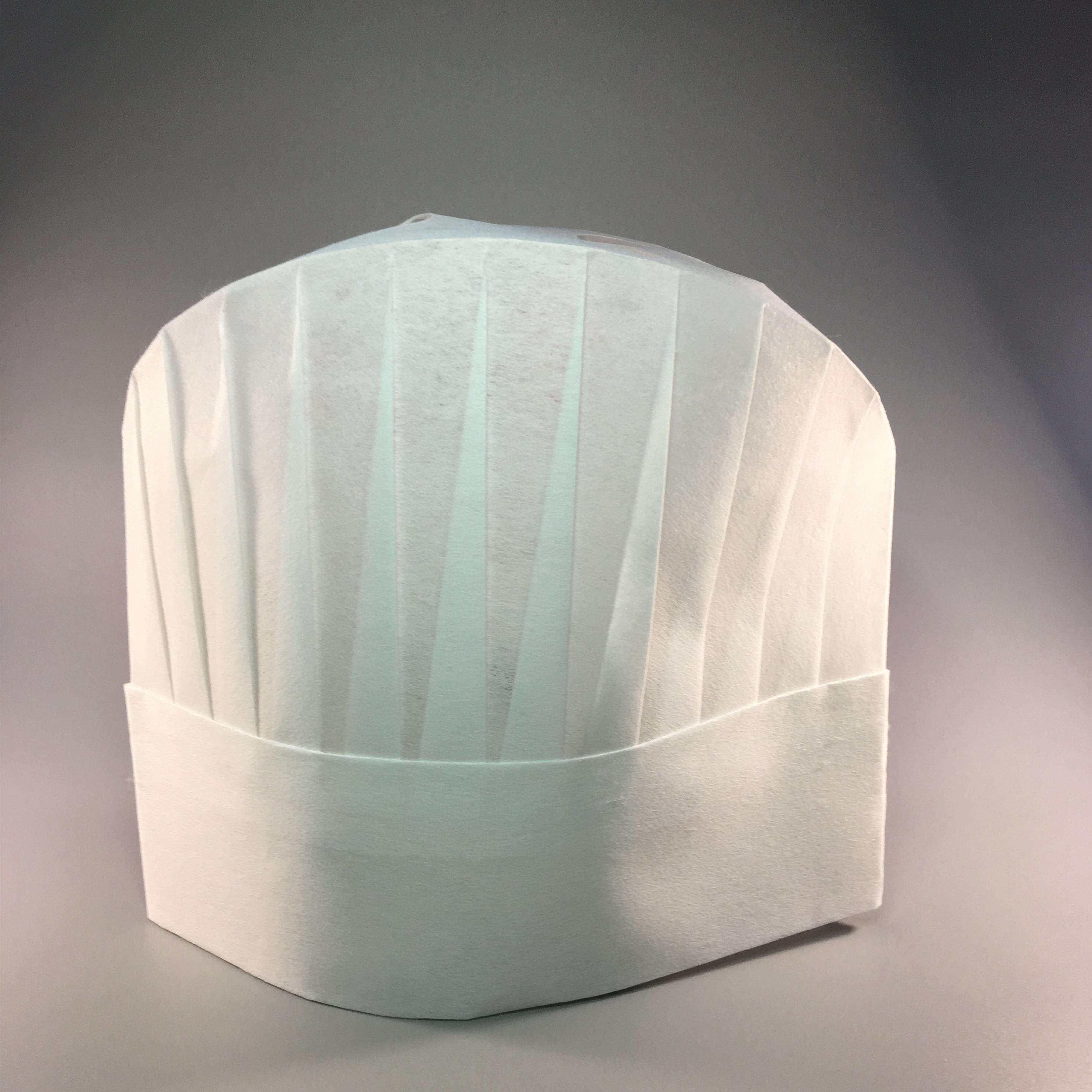 "Round top 9"" height white paper chef hat with kitchen"
