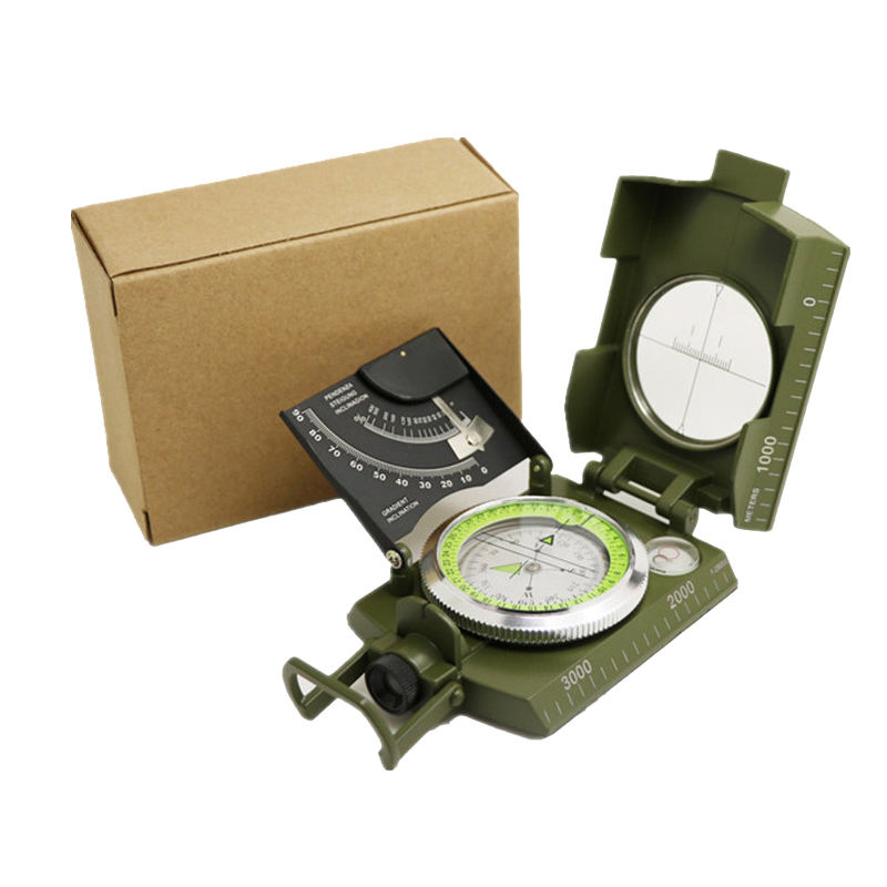Wholesale Survival Camping Prismatic Compass Multifunctional Military Compass Brunton Compass