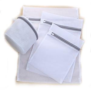 Wholesale Eco-friendly Thickened Fine Mesh Grey Laundry Bag Set Thick Mesh Bags Washing Bag