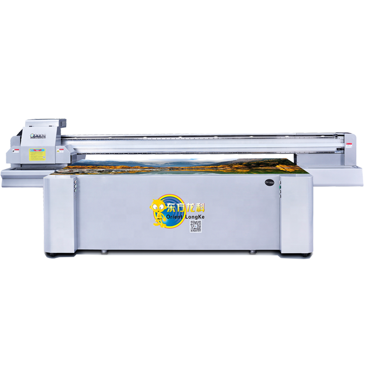 2019 hot selling 2500mm*1300mm UV flat bed Glass Crystal printer