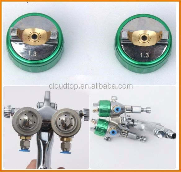 New type of 2015 hvlp spray guns and compressors nano chrome double nozzle gun