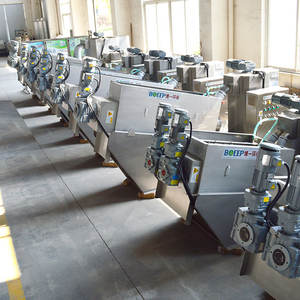 wastewater treatment engineering plant multi plate type dehydration rotary drying equipment sludge drier
