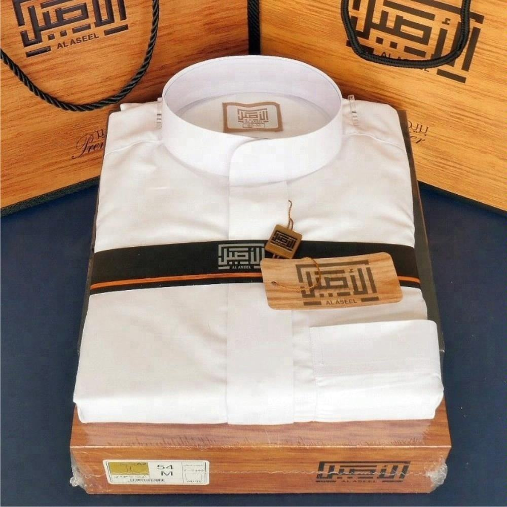 alaseel premium collection white saudi thobe dishdasha islamic arabian kaftan