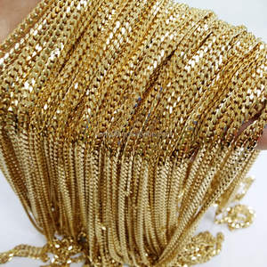 Wholesale In Bulk DIY Jewelry Gold Stainless Steel Curb Cuban Chain Necklace 4mm
