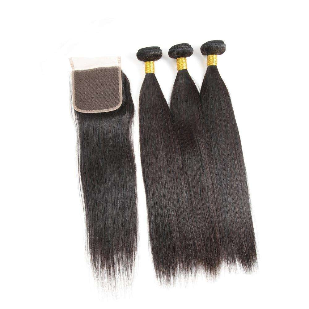 Merknaam Bone Straight Indian Virgin Remy Passie Human Hair Weave Double Drawn Extensions In Dubai Met Sluiting Uk