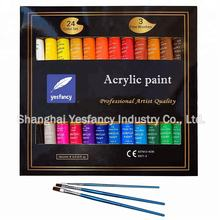 high quality acrylic paint set 24 private label acrylic paint EN71 ASTM MSDS certificated