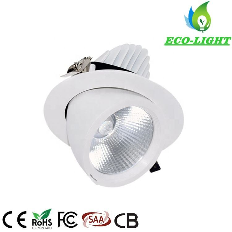 3 년 warranty 5 inch bobes 20 W COB LED 짐벌 통