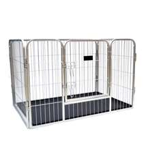 4 panels one-door small animal dog pen puppy play fence exercise cages with plastic tray