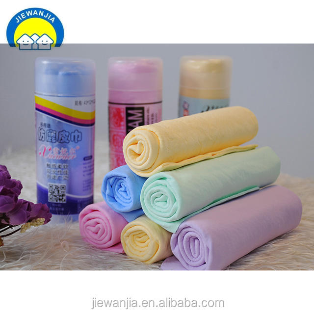 Synthetic PVA Genuine Plas Chamois Leather German Shammy Cloth with Gauze Factory Super Absorbent Towel Car Wash Shammy Cloth