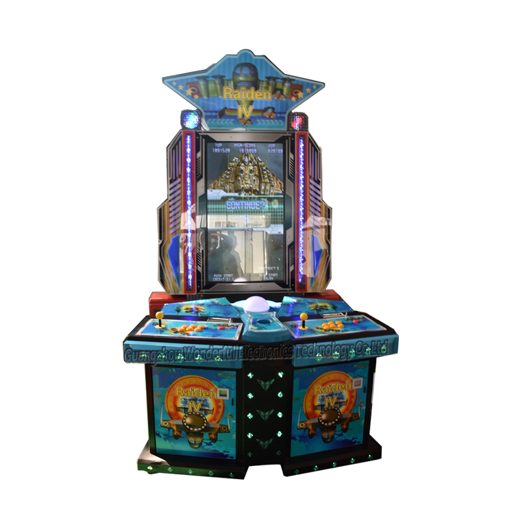 coin pusher 2019 newest Air Plane shooting arcade game machine,Raiden 4 arcade cabinet fighting video game cheap price